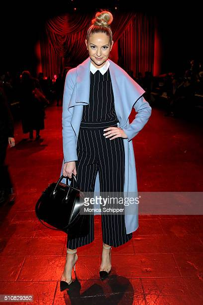 Actress Jackie Miranne attends the Naeem Khan Fall 2016 fashion show during New York Fashion Week The Shows at The Arc Skylight at Moynihan Station...
