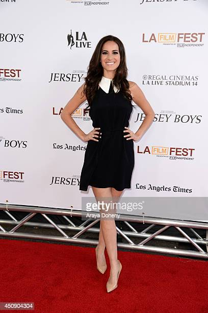 Actress Jackie Seiden attends the closing night film premiere of 'Jersey Boys' during the 2014 Los Angeles Film Festival at Premiere House on June 19...