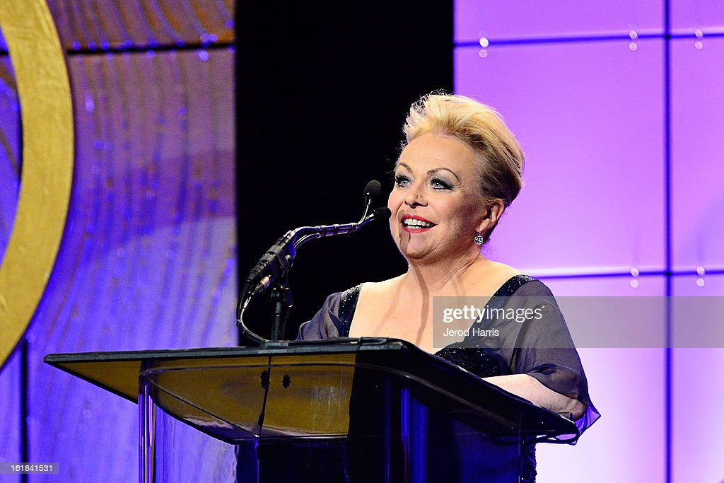 Actress Jackie Weaver presents the nomiees for Best Edited Animated Feature Film during the 63rd Annual ACE Eddie Awards at the Beverly Hilton Hotel on February 16, 2013 in Beverly Hills, California.