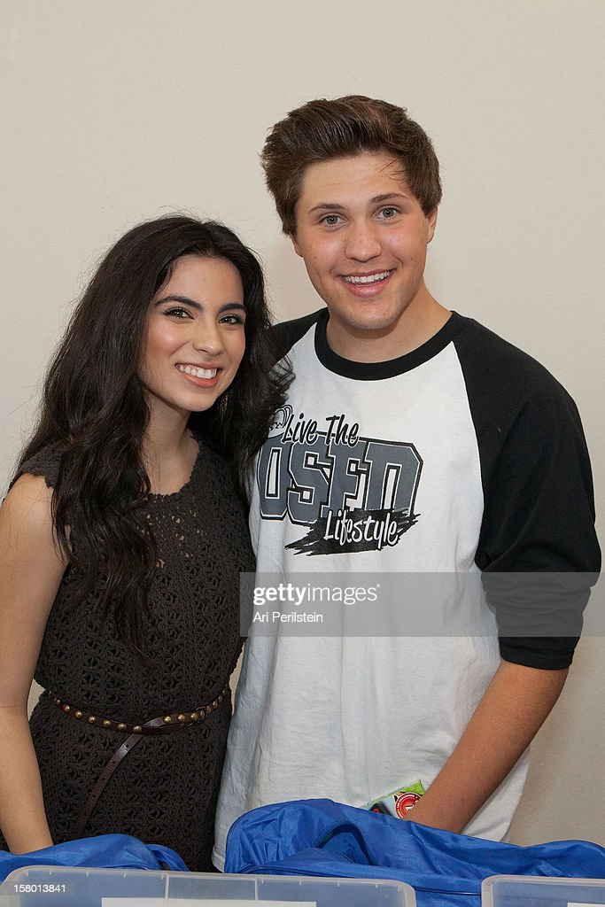 Actress Jacky Barragan and Spencer Owen at 'Kids Helping Kids' - A Celebrity Holiday Stuff-A-Thon Benefiting My Stuff Bags Foundation at CBS Studios - Radford on December 8, 2012 in Studio City, California.