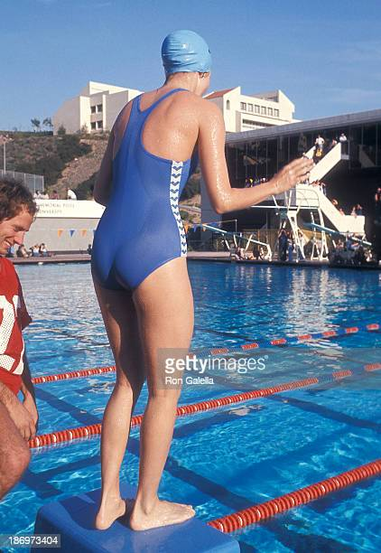 Actress Jaclyn Smith attends 'Battle of the Network Stars II' Television Special on February 5 1977 at Pepperdine University in Malibu California
