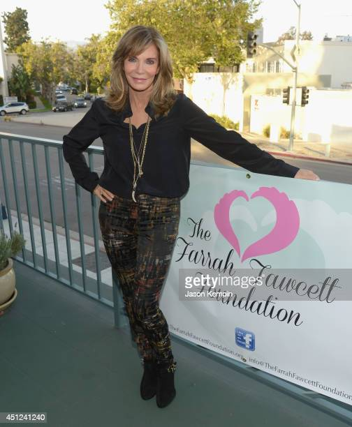 Actress Jaclyn Smith attends the Farrah Fawcett 5th Anniversary Reception at the Farrah Fawcett Foundation on June 25 2014 in Beverly Hills California
