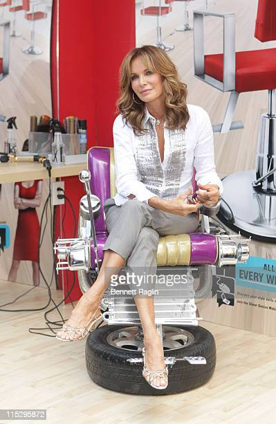Actress Jaclyn Smith attends the launch of 'Shear Genius' Season 2 on June 24 2008 at Military Island in Times Square in New York