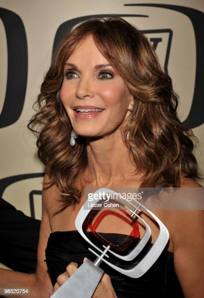 Actress Jaclyn Smith poses backstage with her Pop Culture award during the 8th Annual TV Land Awards at Sony Studios on April 17 2010 in Los Angeles...