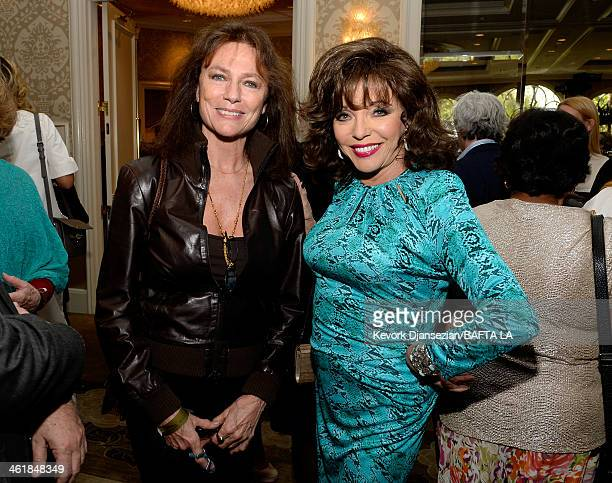 Actress Jacqueline Bisset and actress Joan Collins attend the BAFTA LA 2014 Awards Season Tea Party at the Four Seasons Hotel Los Angeles at Beverly...