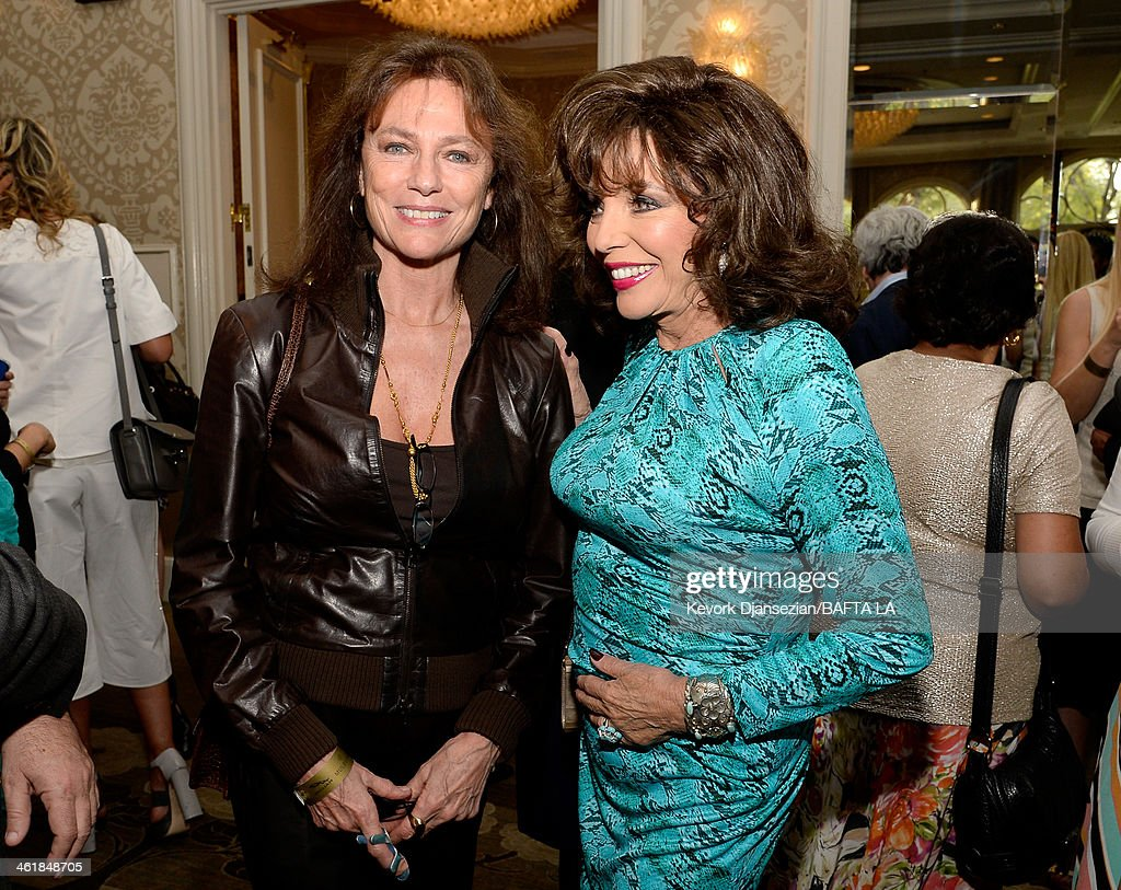 Actress Jacqueline Bisset (L) and actress Joan Collins attend the BAFTA LA 2014 Awards Season Tea Party at the Four Seasons Hotel Los Angeles at Beverly Hills on January 11, 2014 in Beverly Hills, California.