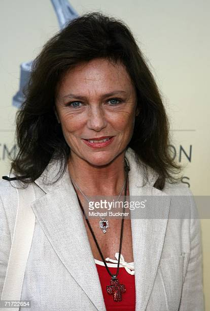 Actress Jacqueline Bisset arrives at the BAFTA/LAAcademy of Television Arts and Sciences Tea Party at the Century Hyatt on August 26 2006 in Century...