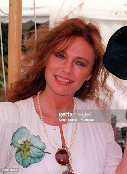 Actress Jacqueline Bisset at the Guards Polo Club Windsor Great Park for the Cartier International Polo Day