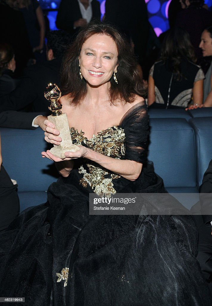 Actress <a gi-track='captionPersonalityLinkClicked' href=/galleries/search?phrase=Jacqueline+Bisset&family=editorial&specificpeople=204696 ng-click='$event.stopPropagation()'>Jacqueline Bisset</a> attends the 2014 InStyle And Warner Bros. 71st Annual Golden Globe Awards Post-Party at The Beverly Hilton Hotel on January 12, 2014 in Beverly Hills, California.