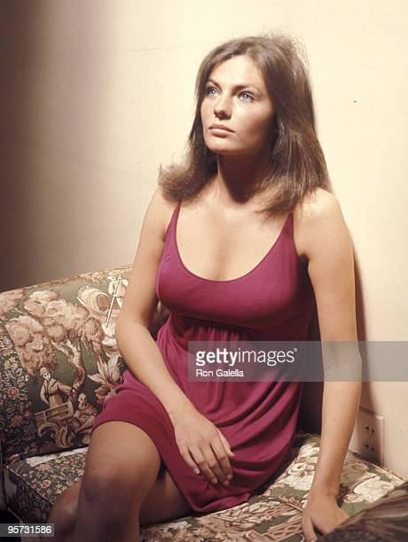 Actress Jacqueline Bisset on April 1 1968 visits the 20th Century Fox Studios in Century City California