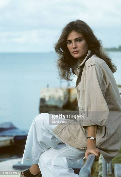 Actress Jacqueline Bisset posing for a portrait on November 51976 in Hamilton Bermuda