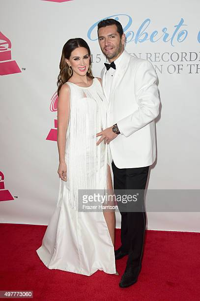 Actress Jacqueline Bracamontes and Martin Fuentes attend the 2015 Latin GRAMMY Person of the Year honoring Roberto Carlos at the Mandalay Bay Events...