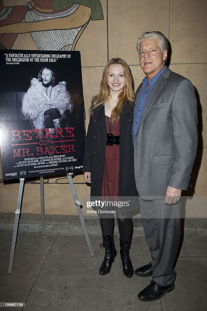 Actress Jacqueline Emerson and Rick Allen attend a special screening of 'Beware Of Mr Baker' at the Egyptian Theatre on January 23 2013 in Hollywood...
