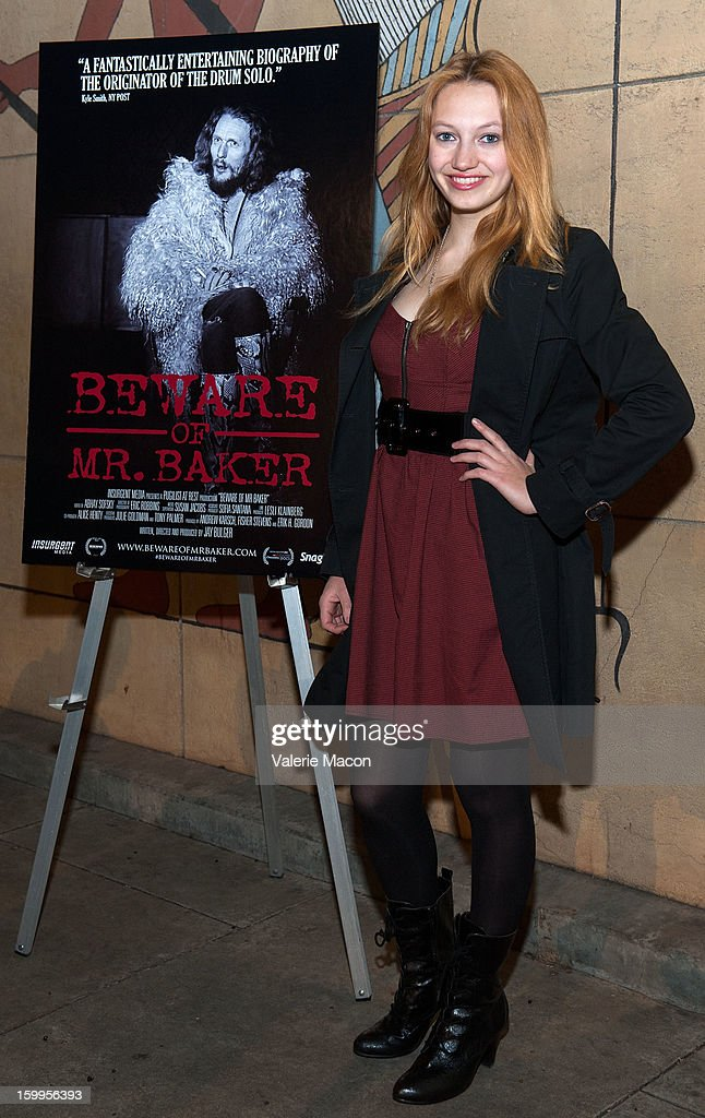 Actress Jacqueline Emerson arrives at the screening of SnagFilms' 'Beware of Mr Baker' at the Egyptian Theatre on January 23 2013 in Hollywood...