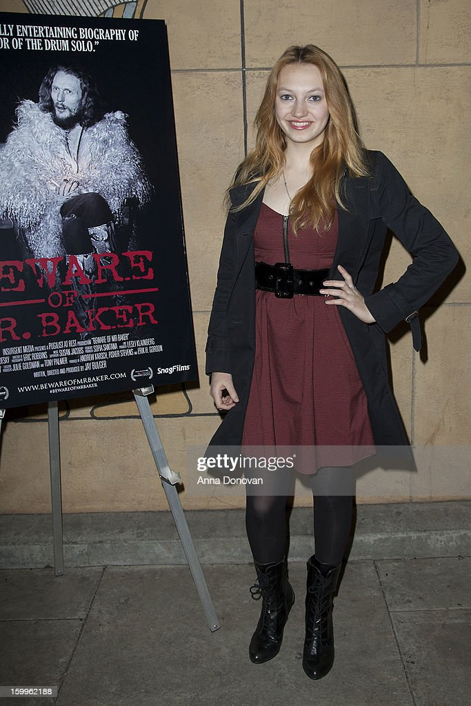 Actress Jacqueline Emerson attends a special screening of 'Beware Of Mr Baker' at the Egyptian Theatre on January 23 2013 in Hollywood California