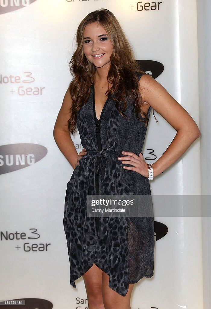 Actress <a gi-track='captionPersonalityLinkClicked' href=/galleries/search?phrase=Jacqueline+Jossa&family=editorial&specificpeople=7781159 ng-click='$event.stopPropagation()'>Jacqueline Jossa</a> attends the launch of Samsung's Galaxy Gear and Galaxy Note 3 at ME Hotel on September 24, 2013 in London, England.