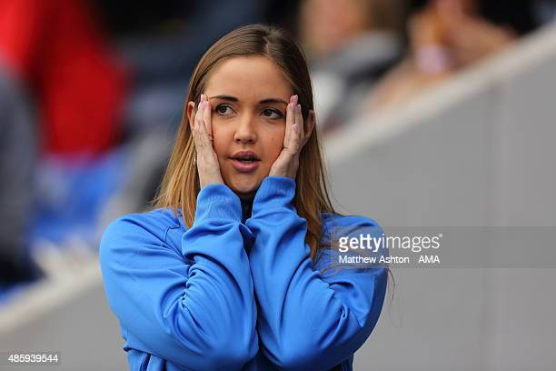 Actress Jacqueline Jossa in her role as an assistant manager during a charity football match in aid of PDSA at Greenhous Meadow home of Shrewsbury...