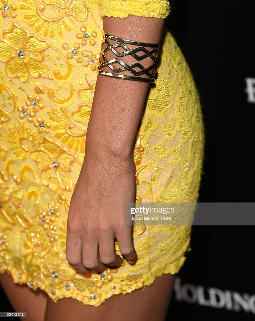 Actress Jacqueline MacInnes Wood (fashion detail) attends Maxim's Hot 100 Women of 2014 celebration and sneak peek of the future of Maxim at Pacific Design Center on June 10, 2014 in West Hollywood, California.