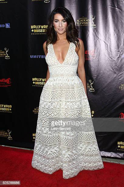 Actress Jacqueline MacInnes Wood attends the 2016 Daytime Emmy Awards Nominees Reception Arrivals at The Hollywood Museum on April 27 2016 in...