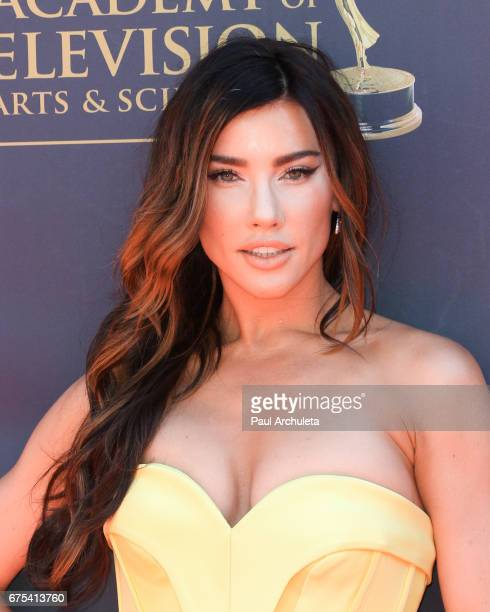 Actress Jacqueline MacInnes Wood attends the 44th annual Daytime Emmy Awards at Pasadena Civic Auditorium on April 30 2017 in Pasadena California