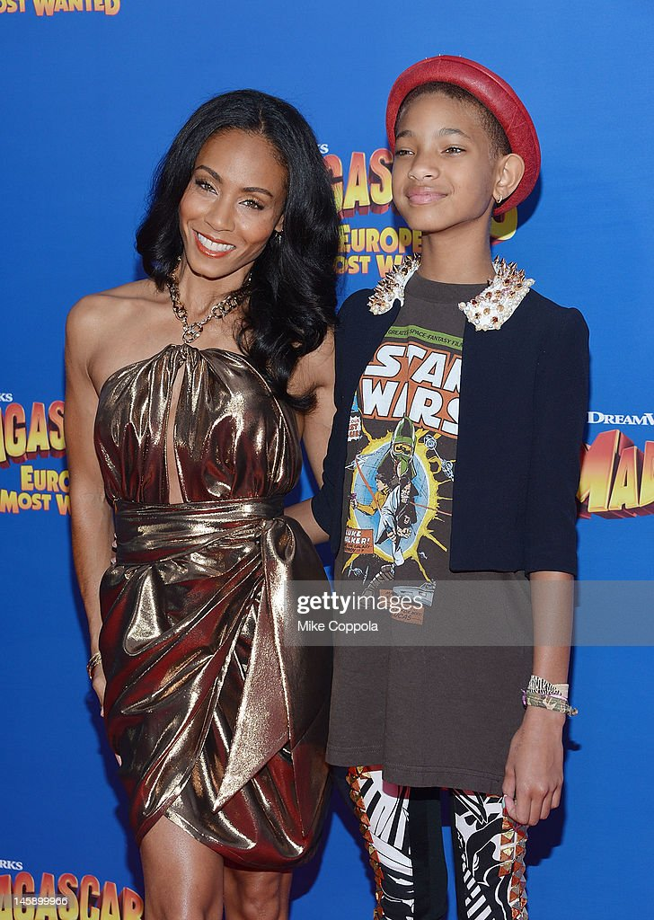 Actress Jada Pinkett (L) and actress/singer Willow Smith attend the 'Madagascar 3: Europe's Most Wanted' New York Premier at Ziegfeld Theatre on June 7, 2012 in New York City.