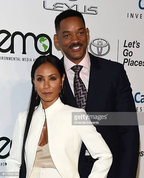 Actress Jada Pinkett Smith and actor Will Smith arrive at the 26th Annual EMA Awards at Warner Bros Studios on October 22 2016 in Burbank California