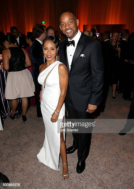 Actress Jada Pinkett Smith and actor Will Smith attend The Diamond Ball II with D'USSE and Armand de Brignac at The Barker Hanger on December 10 2015...