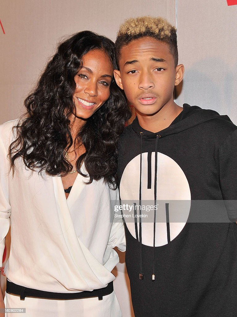 Actress Jada Pinkett Smith and Jaden Smith attend BET's Rip The Runway 2013:Red Carpet at Hammerstein Ballroom on February 27, 2013 in New York City.