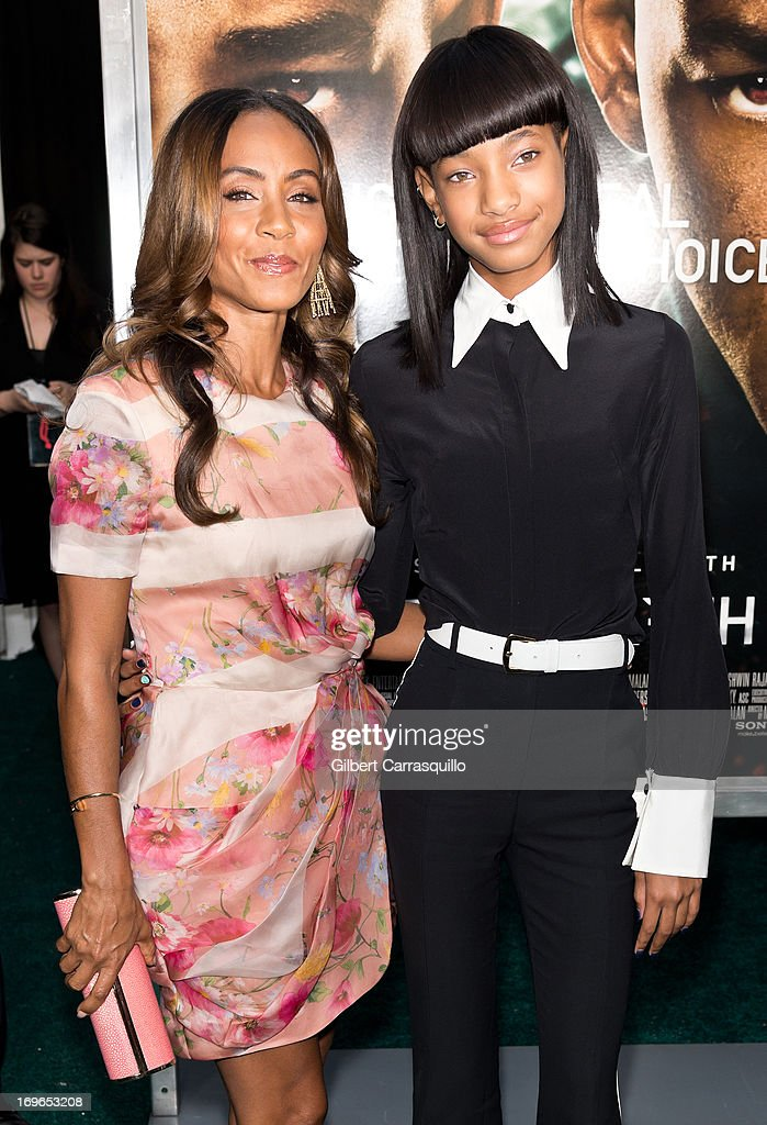Actress Jada Pinkett Smith and Willow Smith attend the 'After Earth' premiere at Ziegfeld Theater on May 29, 2013 in New York City.