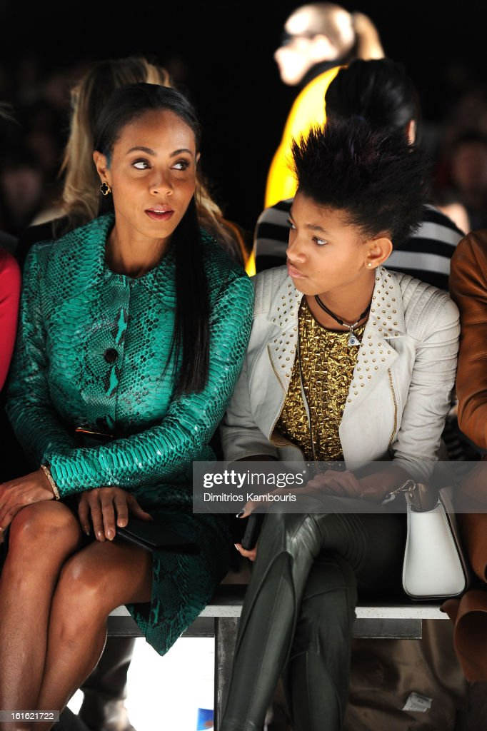 Actress <a gi-track='captionPersonalityLinkClicked' href=/galleries/search?phrase=Jada+Pinkett+Smith&family=editorial&specificpeople=201837 ng-click='$event.stopPropagation()'>Jada Pinkett Smith</a> and <a gi-track='captionPersonalityLinkClicked' href=/galleries/search?phrase=Willow+Smith&family=editorial&specificpeople=869488 ng-click='$event.stopPropagation()'>Willow Smith</a> attend the Michael Kors Fall 2013 fashion show during Mercedes-Benz Fashion Week at The Theatre at Lincoln Center on February 13, 2013 in New York City.