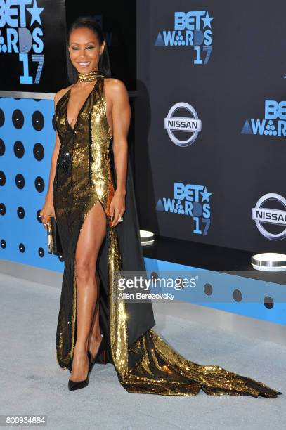 Actress Jada Pinkett Smith arrives at the 2017 BET Awards at Microsoft Theater on June 25 2017 in Los Angeles California