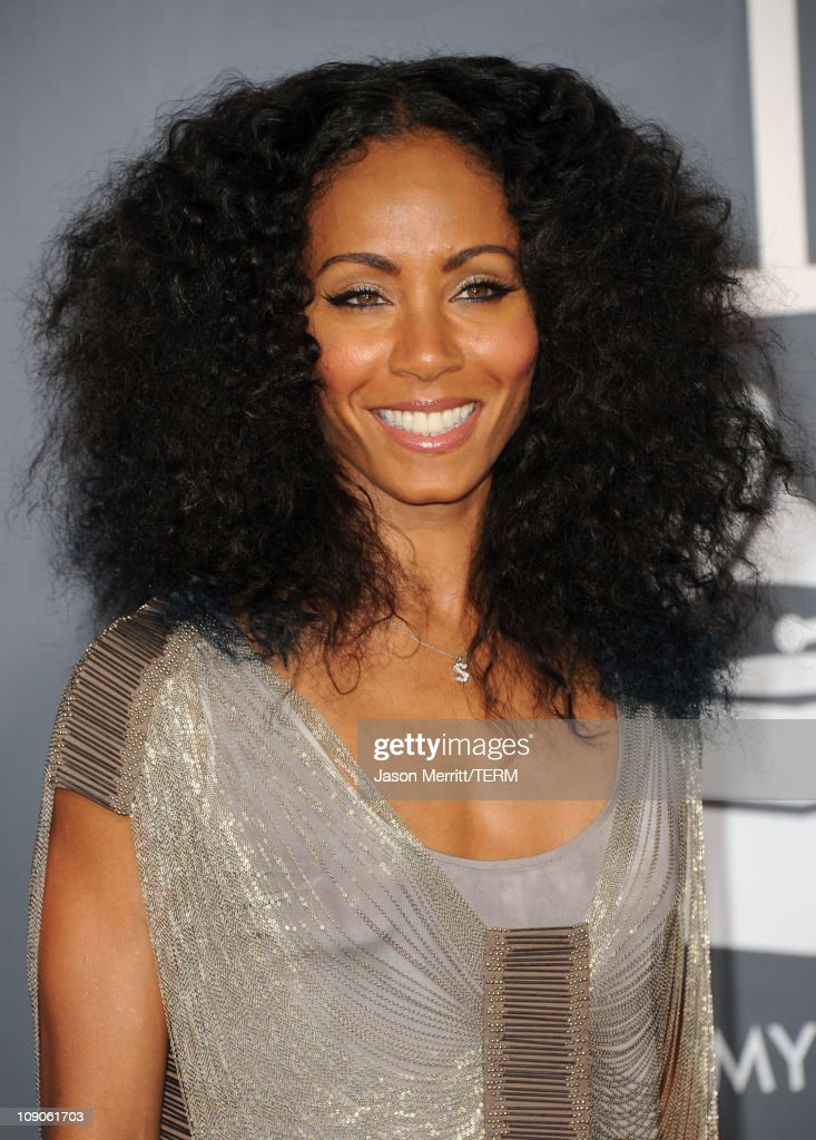 Actress <a gi-track='captionPersonalityLinkClicked' href=/galleries/search?phrase=Jada+Pinkett+Smith&family=editorial&specificpeople=201837 ng-click='$event.stopPropagation()'>Jada Pinkett Smith</a> arrives at The 53rd Annual GRAMMY Awards held at Staples Center on February 13, 2011 in Los Angeles, California.
