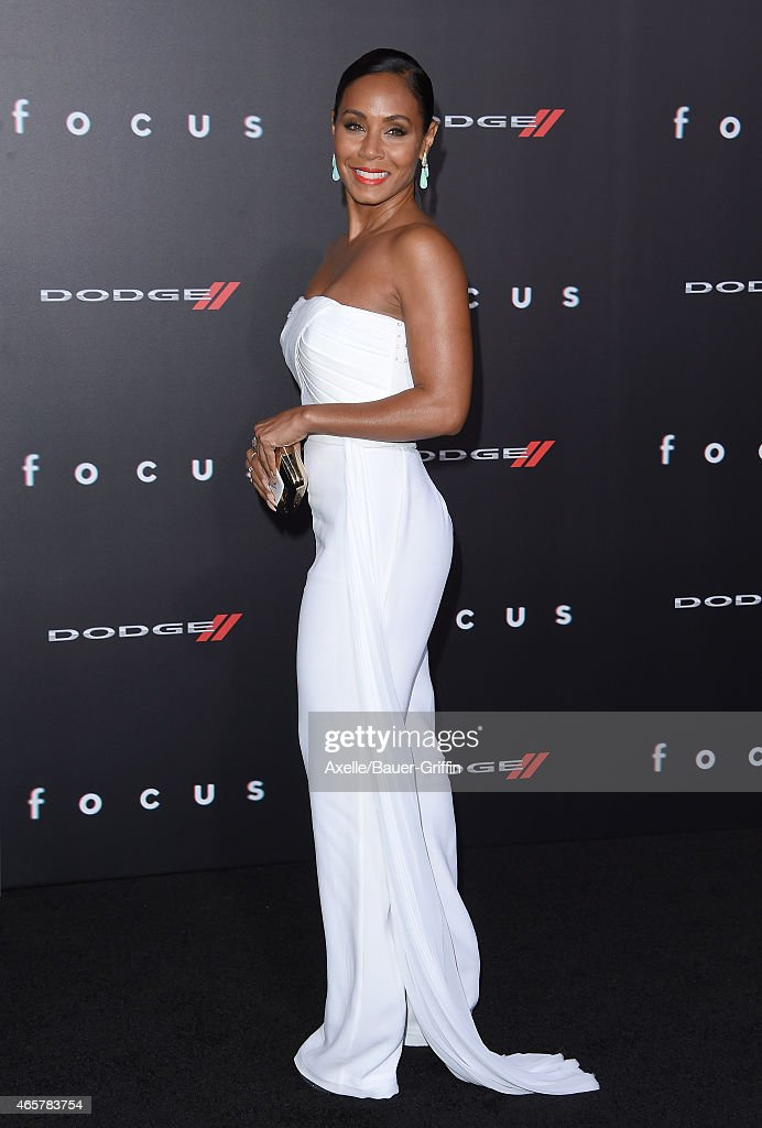 Actress Jada Pinkett Smith arrives at the Los Angeles World Premiere of Warner Bros. Pictures 'Focus' at TCL Chinese Theatre on February 24, 2015 in Hollywood, California.