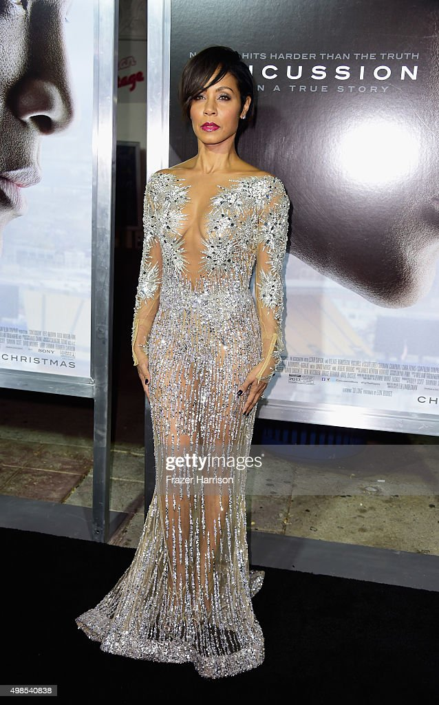 Actress Jada Pinkett Smith arrives at the Screening Of Columbia Pictures' 'Concussion' at Regency Village Theatre on November 23, 2015 in Westwood, California.