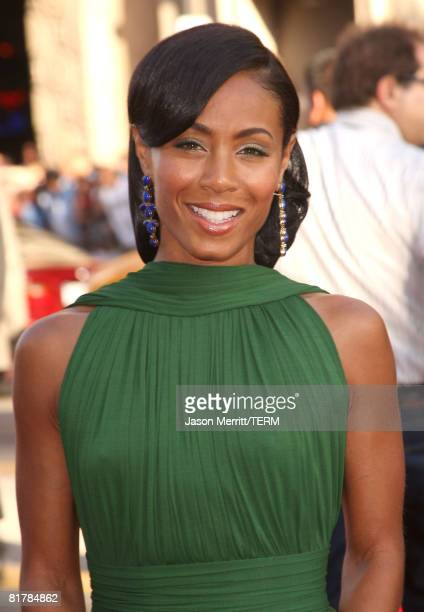 Actress Jada Pinkett Smith arrives to the Premiere of Sony Pictures' 'Hancock' at Grauman's Chinese Theatre on June 30 2008 in Hollywood California