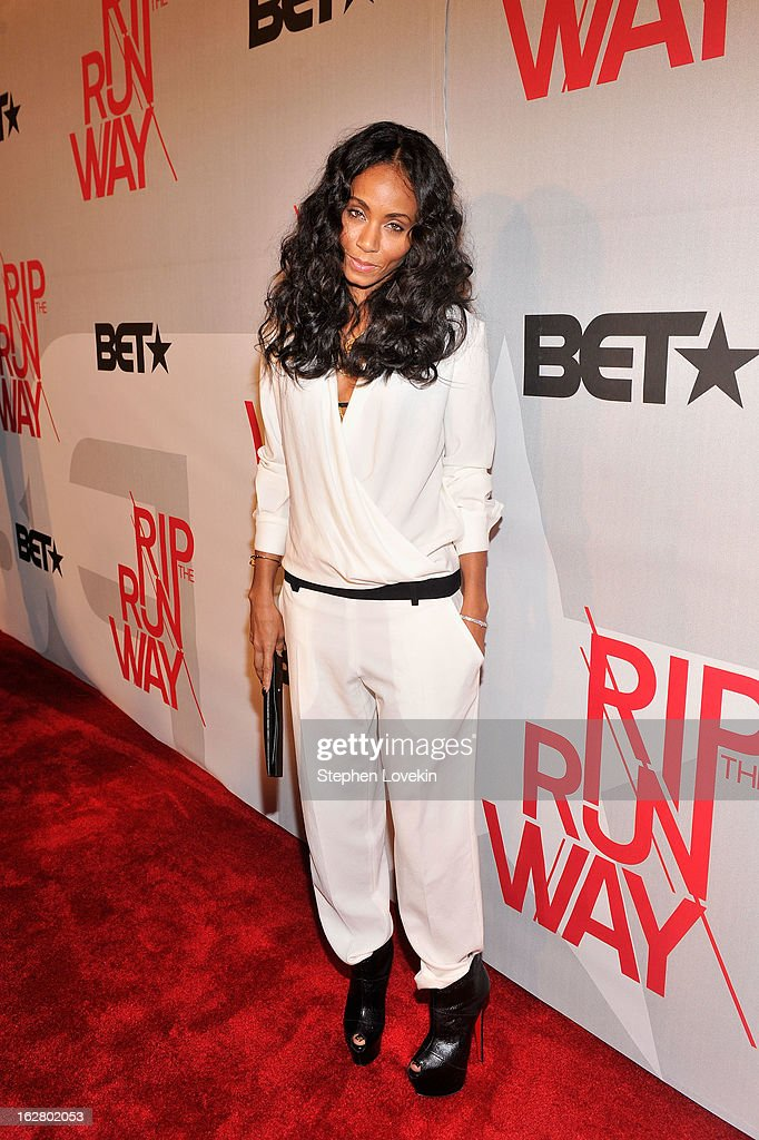 Actress Jada Pinkett Smith attends BET's Rip The Runway 2013:Red Carpet at Hammerstein Ballroom on February 27, 2013 in New York City.