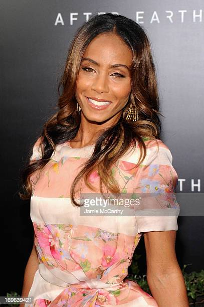 Actress Jada Pinkett Smith attends Columbia Pictures and MercedesBenz Present the US Red Carpet Premiere of AFTER EARTH at Ziegfeld Theatre on May 29...
