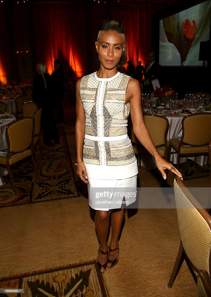 Actress <a gi-track='captionPersonalityLinkClicked' href=/galleries/search?phrase=Jada+Pinkett+Smith&family=editorial&specificpeople=201837 ng-click='$event.stopPropagation()'>Jada Pinkett Smith</a> attends Equality Now presents 'Make Equality Reality' at Montage Hotel on November 4, 2013 in Los Angeles, California.