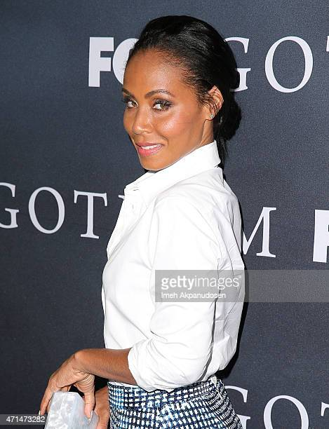 Actress Jada Pinkett Smith attends Fox's 'Gotham' finale screening event at Landmark Theatre on April 28 2015 in Los Angeles California