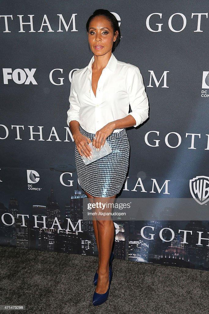 Actress Jada Pinkett Smith attends Fox's 'Gotham' finale screening event at Landmark Theatre on April 28 2015 in Los Angeles California