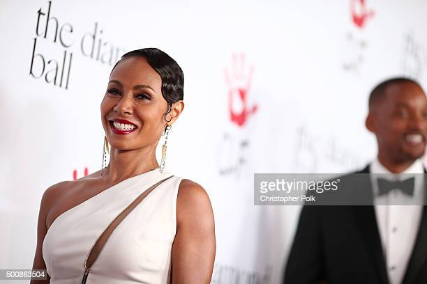 Actress Jada Pinkett Smith attends the 2nd Annual Diamond Ball hosted by Rihanna and The Clara Lionel Foundation at The Barker Hanger on December 10...