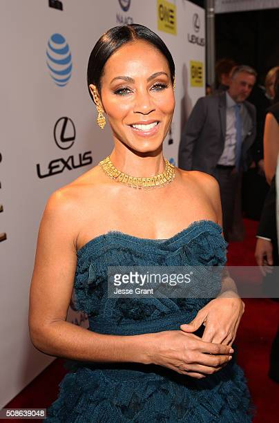 Actress Jada Pinkett Smith attends the 47th NAACP Image Awards presented by TV One at Pasadena Civic Auditorium on February 5 2016 in Pasadena...