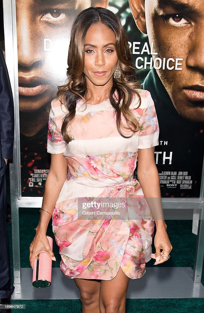 Actress Jada Pinkett Smith attends the 'After Earth' premiere at Ziegfeld Theater on May 29, 2013 in New York City.