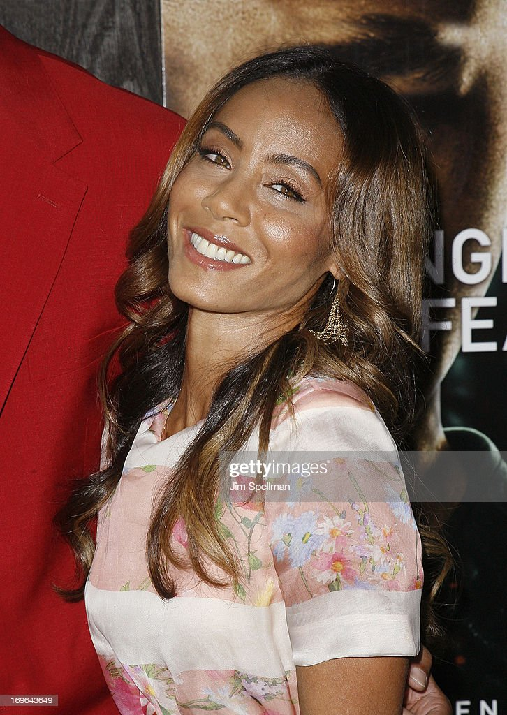 Actress Jada Pinkett Smith attends the 'After Earth' premiere at the Ziegfeld Theater on May 29, 2013 in New York City.