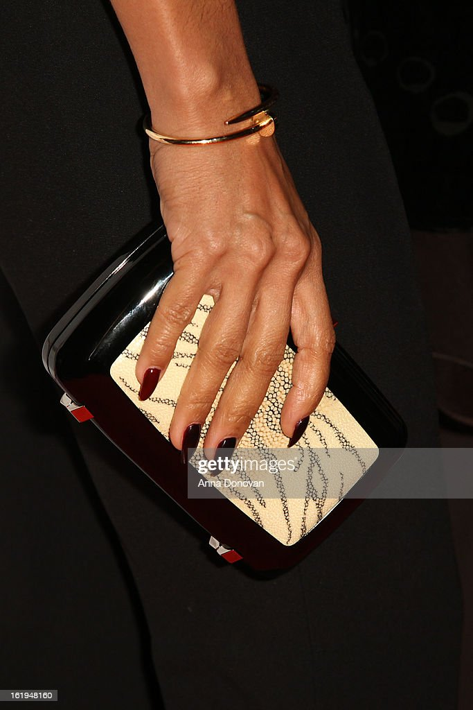 Actress <a gi-track='captionPersonalityLinkClicked' href=/galleries/search?phrase=Jada+Pinkett+Smith&family=editorial&specificpeople=201837 ng-click='$event.stopPropagation()'>Jada Pinkett Smith</a> attends the closing night at the Pan African film festival 'Free Angela And All Political Prisoners' at Rave Cinemas on February 17, 2013 in Los Angeles, California.