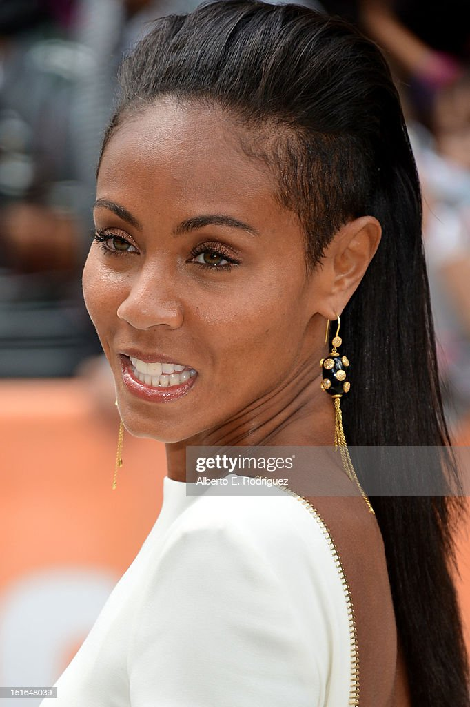 Actress Jada Pinkett Smith attends the 'Free Angela All Political Prisoners' premiere during the 2012 Toronto International Film Festival at Roy...