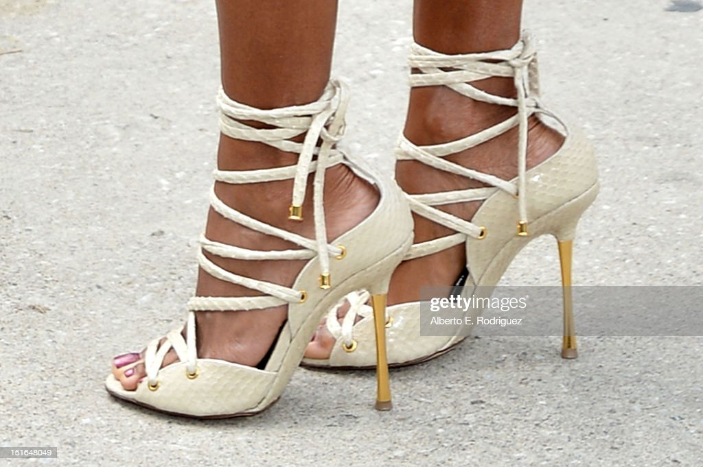 Actress Jada Pinkett Smith (Shoe Detail) attends the 'Free Angela & All Political Prisoners' premiere during the 2012 Toronto International Film Festival at Roy Thomson Hall on September 9, 2012 in Toronto, Canada.