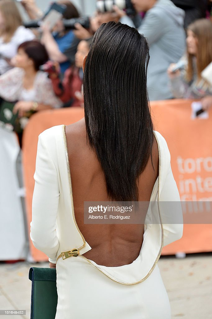 Actress Jada Pinkett Smith attends the 'Free Angela & All Political Prisoners' premiere during the 2012 Toronto International Film Festival at Roy Thomson Hall on September 9, 2012 in Toronto, Canada.