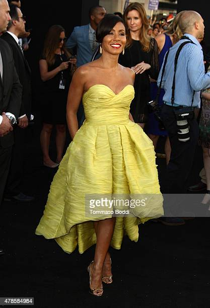 Actress Jada Pinkett Smith attends the Los Angeles world premiere of Warner Bros Pictures' 'Magic Mike XXL' held at TCL Chinese Theatre IMAX on June...