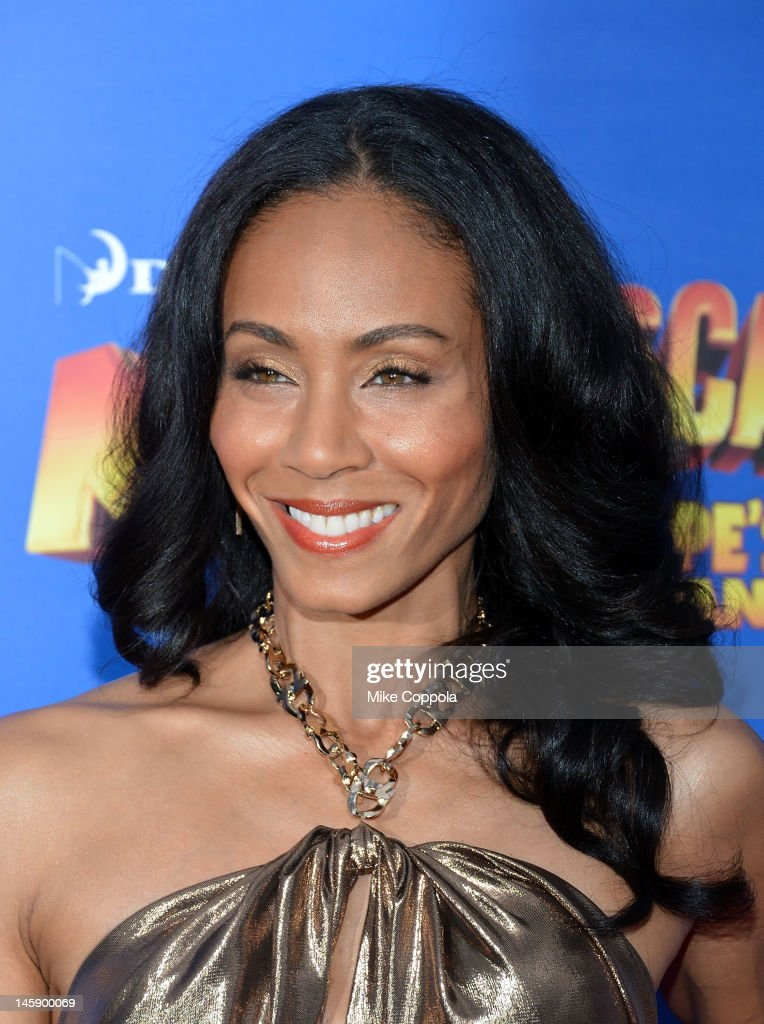 Actress Jada Pinkett Smith attends the 'Madagascar 3: Europe's Most Wanted' New York Premier at Ziegfeld Theatre on June 7, 2012 in New York City.